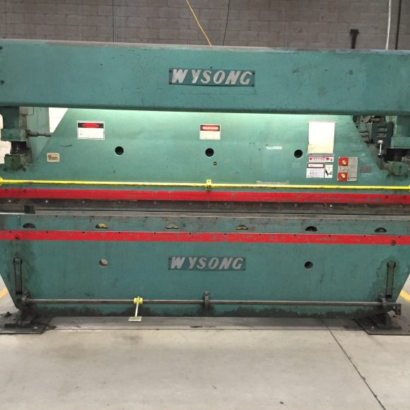Wysong Mechanical Press Brake Front View