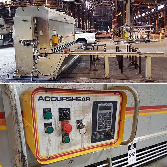 Mild Steel Water Jet Working Belarus: Used Accurshear 12 Foot X Half Inch Shear