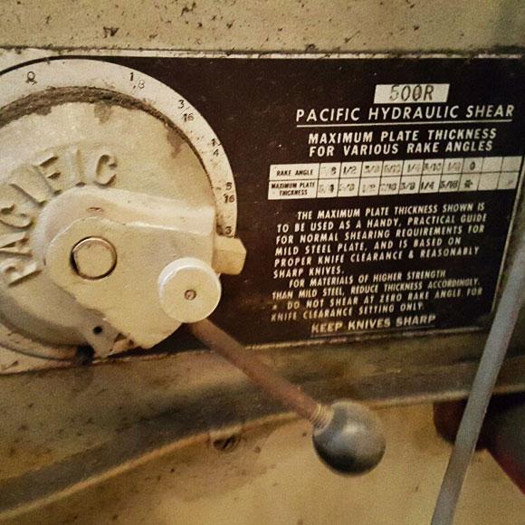 pacific hydraulic shear manual